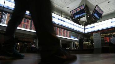 La Bourse de Sao Paulo, au Brésil, le 24 août 2015