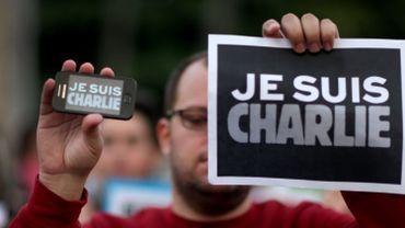 Manifestation de soutien à Charlie Hebdo à Miami, aux Etats-Unis