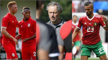 Renaud Emond, Samuel Bastien, Michel Preud'homme et Mehdi Carcela