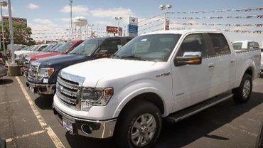 Des pick-up garés le 3 juin 2013 à Melrose Park aux Etats-Unis