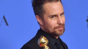Sam Rockwell après la cérémoie dues Golden Globe Awards