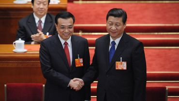 Le nouveau Premier ministre chinois Li Kequiang aux côtés du président Xi Jinping