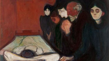 """Edvard Munch, """"At the Deathbed"""" (1895)"""