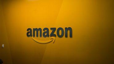 Logo Amazon le 16 juin 2017 à Seattle