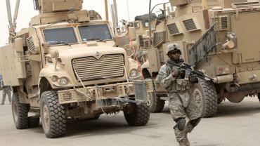 Unité américaine à Bagdad.