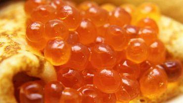 crêpe au caviar