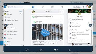 Des captures d'écran du Facebook new look circulent sur... Twitter.