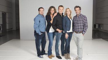 Au commande de l'émission TV: Anne-Laure Macq et Adrien Devyver