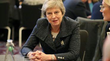 La Première ministre britannique Theresa May à Belfast, en Irlande du Nord, le 27 novembre 2018