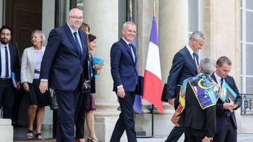François de Rugy quittant le Conseil des ministres le 5 septembre 2018