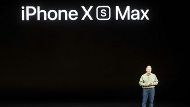Phil Schiller présentant les nouveaux produits Apple le 12 septembre 2018 à Cupertino, en Californie