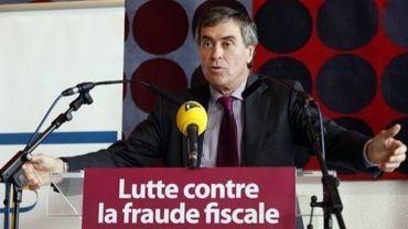 Jérôme Cahuzac lors d'une conférence de presse sur la lutte contre la fraude fiscale, le 20 novembre 2012 à Paris