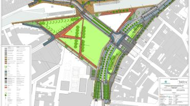 Le plan du nouvel aménagement de la Porte de Ninove
