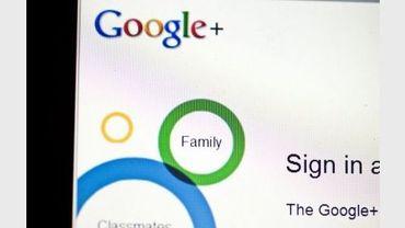 La page d'accueil du réseau social Google+