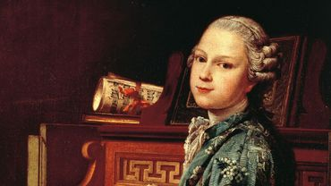 Le jeune Wolfgang Amadeus Mozart au clavecin. Peinture par Joseph-Siffred Duplessis (1725 - 1802)