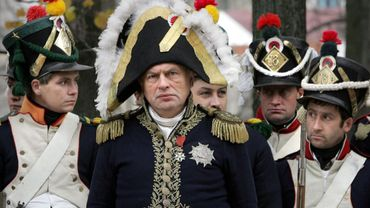 Oleg Sokolov lors d'une reconstitution napoléonienne