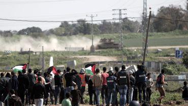 Intervention israélienne durant une manifestation en Cisjordanie
