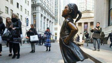 """Fearless Girl"" Statue Moves To Her New Home"