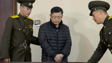 Le pasteur canadien Hyeon Soo Lim lors de son procès à Pyongyang, le 16 décembre 2015