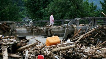 Les dégâts des inondations sur l'île de Kyushu au Japon, le 11 juillet 2013