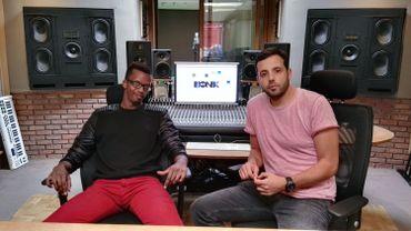Les Bionix (Christian Dessart et Rachid Mir) dans le studio Air à Bruxelles.