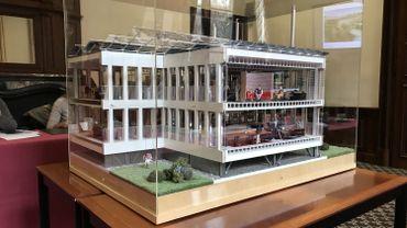 La maquette de la future maison administrative de la province de Namur