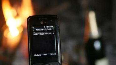 Plus de 72 millions de sms envoyés en Belgique la nuit du Nouvel An.