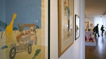 """La couverture originale de """"Tintin au Congo"""" pendant une vente à Paris"""