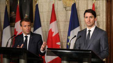 Macron et Trudeau annoncent des représailles aux taxes américaines sur l'acier et l'aluminium