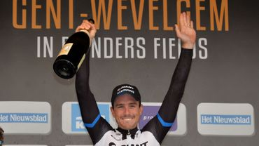 John Degenkolb sur le podium de Gand-Wevelgem