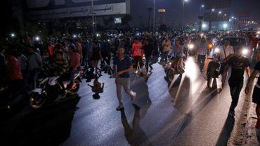 Manifestation pour réclamer le départ du président égyptien Abdel Fattah al-Sissi au Caire le 20 septembre 2019