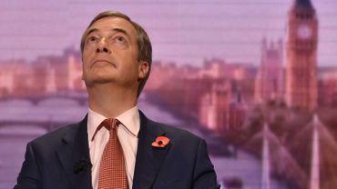 L'europhobe Farage ne se présentera pas aux élections législatives britanniques