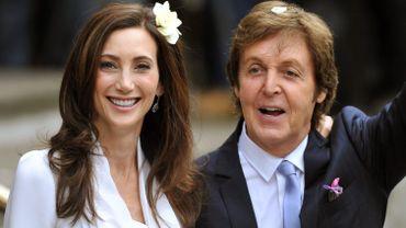 Paul McCartney lors de son mariage