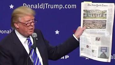 """Donald Trump souhaite la bienvenue au nouveau patron du """"foireux"""" New York Times"""