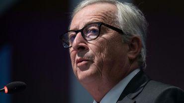 Le président de la Commission européenne Jean-Claude Juncker, le 25 juillet 2018 à Washington, lors de ses négociations avec donald Trump.