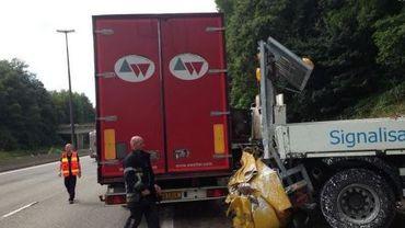 Le poids lourd tamponneur avait pulvérisé le camion tampon