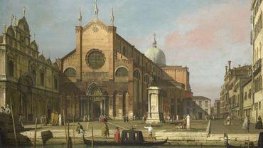 Canaletto (1697-1768), Venezia, campo Santi Giovanni e Paolo, 1736-1740