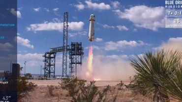 Nouveau vol d'essai réussi dans l'espace pour la fusée touristique de Blue Origin