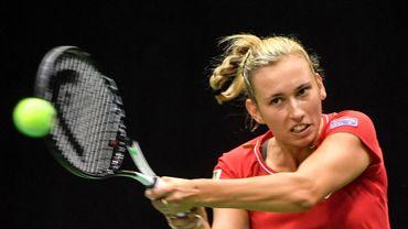 Elise Mertens face à la Tchèque Siniakova, 44e mondiale, à Doha