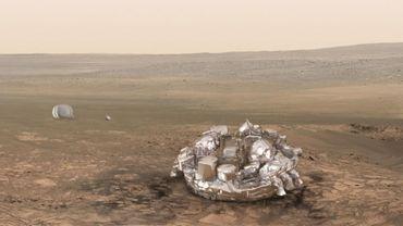 La sonde tel qu'il est prévu qu'elle atterrisse sur Mars