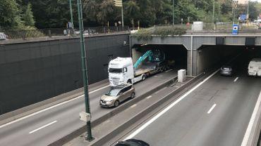 Le tunnel des Quatre Bras était fermé dans les deux sens, après la panne survenue aux alentours de 17h ce mardi.