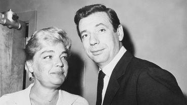 Simone Signoret et Yves Montand dans les années 1960
