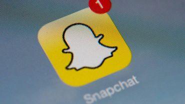 """Logo de l'application mobile de """"Snapchat"""" le 24 janvier 2014 à Paris"""