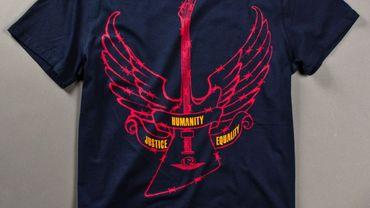 Une partie des bénéfices de la vente des tee shirts sera reversée à Amnesty International