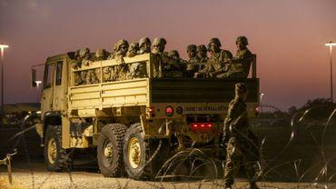 Des militaires américains près de la frontière mexicaine à Donna (Texas) le 6 novembre 2018.