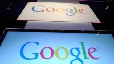 Des logos de google à l'évènement LeWeb Paris 2012 à Saint-Denis, près de Paris, le 4 décembre 2012