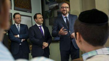 Le Premier ministre Charles Michel a rendu visite à la communauté juive d'Anvers
