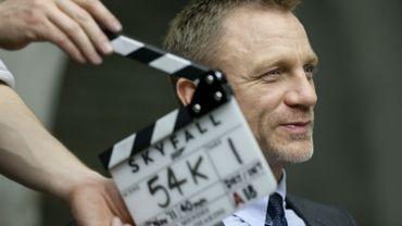 L'acteur britannique Daniel Craig lors du tournage de 'Skyfall', dernier épisode de la sage cinématographique de James Bond