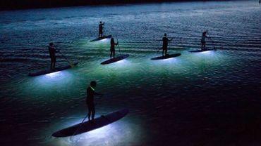Paddle de nuit à Barcelone