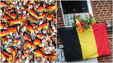 """""""On n'a qu'à recoudre notre drapeau!"""": l'astuce des supporters Allemand après leur défaite au Mondial"""